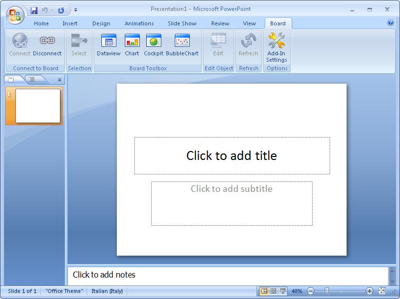 Board Office Add-in for PowerPoint